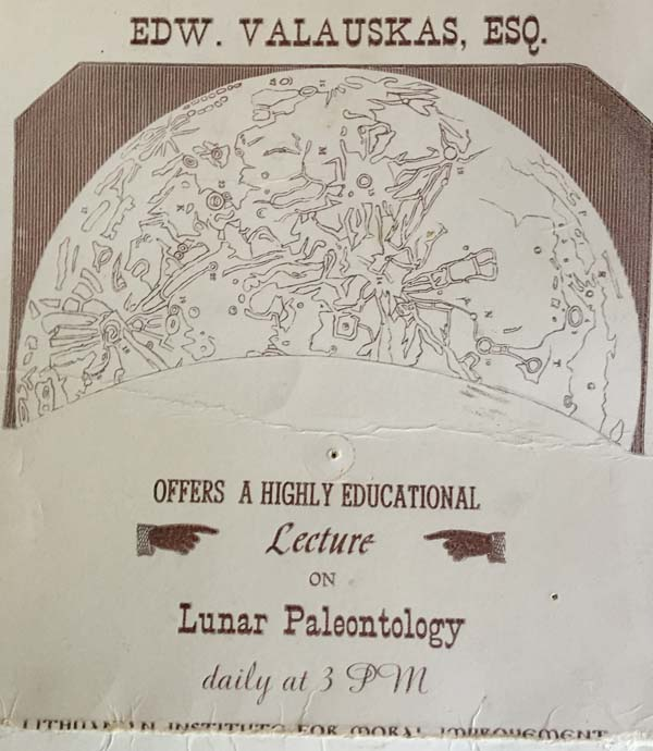 Paleontology of the Moon Lecture